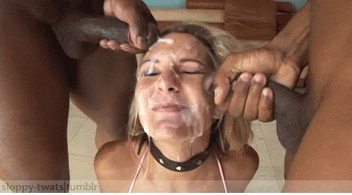 GIF Cumshot on the Face. 110 Pieces of GIF Animation