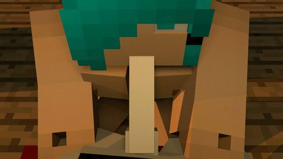 Minecraft Animacja porno, wideo, GIF-y. Seks oparty na grze