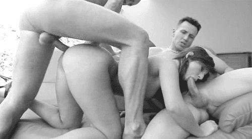 Porn GIFs MFM. Male-Female-Male. More than 100 pieces!