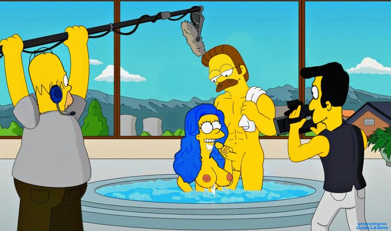 Porn GIFy Simpsonowie. Świetny zbiór animacji